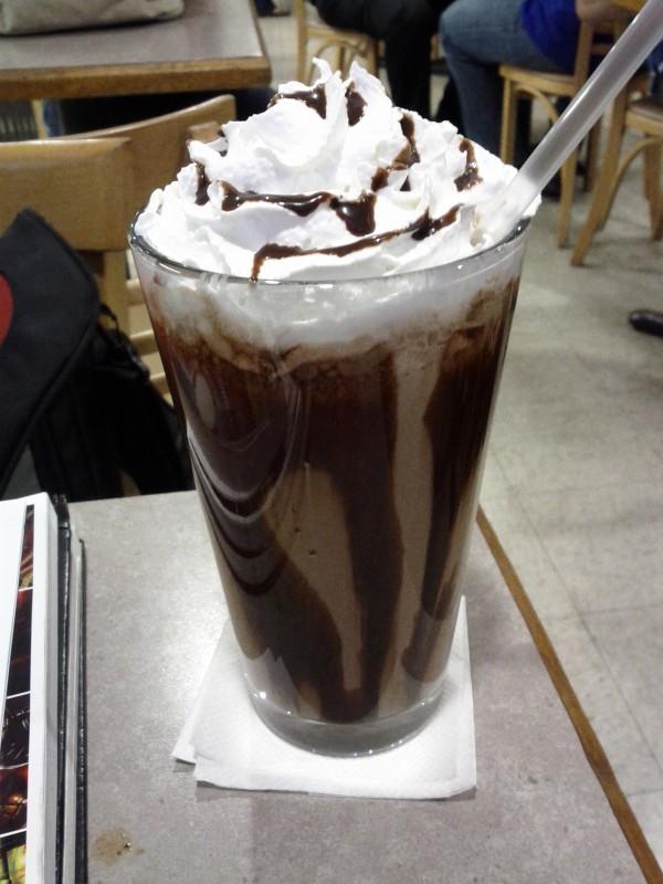 the mocha frappe from caffe romanza