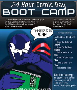 blitz comics boot camp september 23 2011 at kaleid gallery in san jose