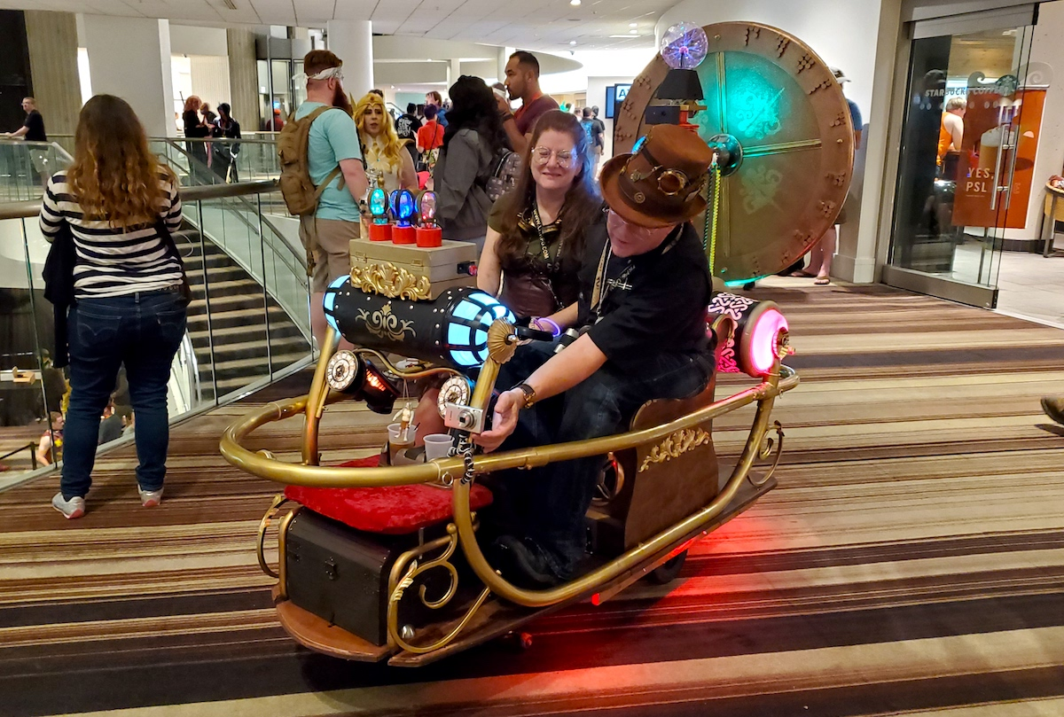 Time Machine Scooter at Dragon Con