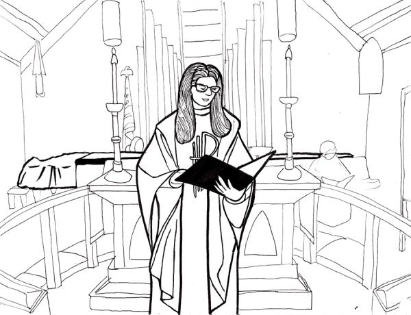 Rev. Karen at St. John's the Divine
