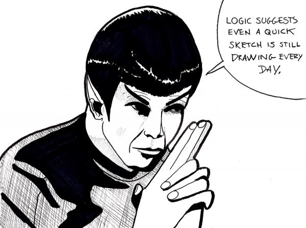 spock sketch