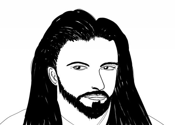 rough sketch of jesus