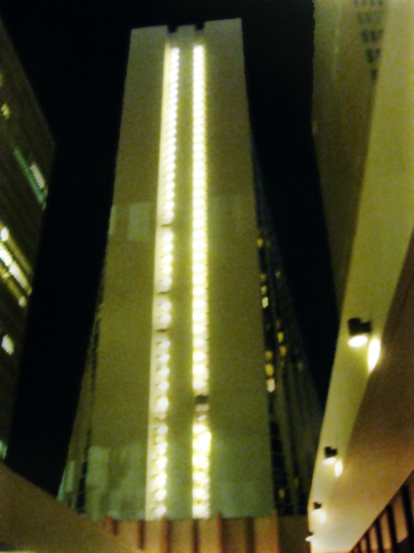 marriot marquis at night