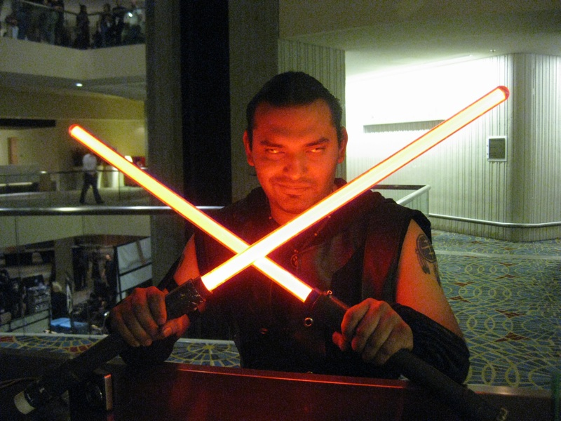 derrick and doublebladed sabers
