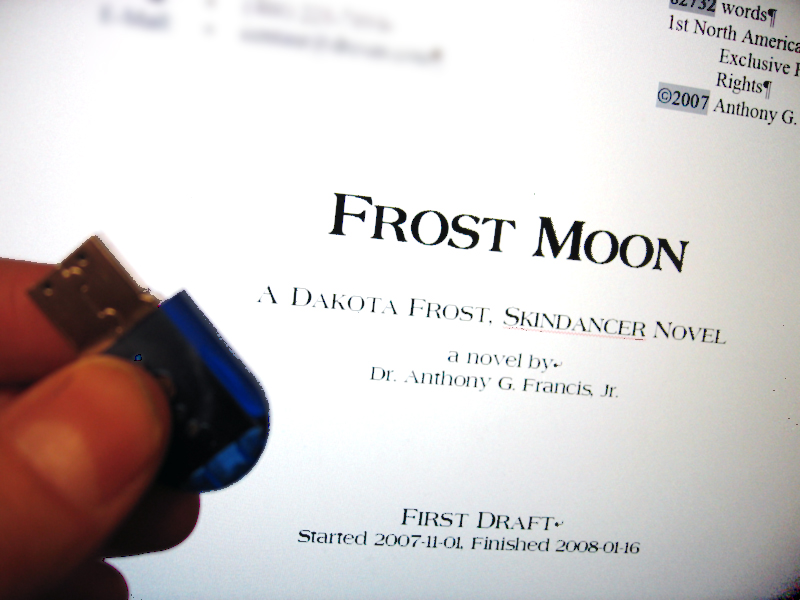 First Draft of Frost Moon on a USB Key