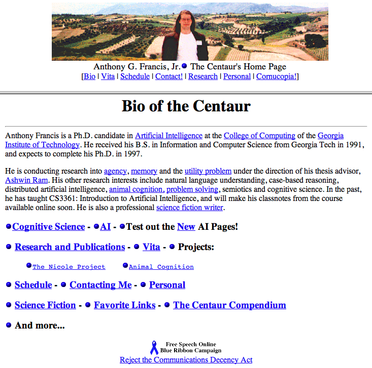the centaur's original home page
