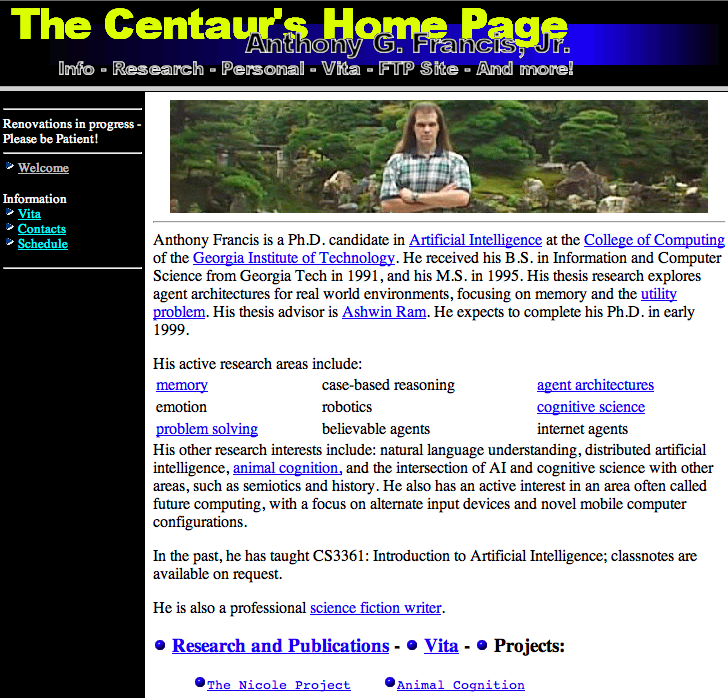 the centaur's college home page