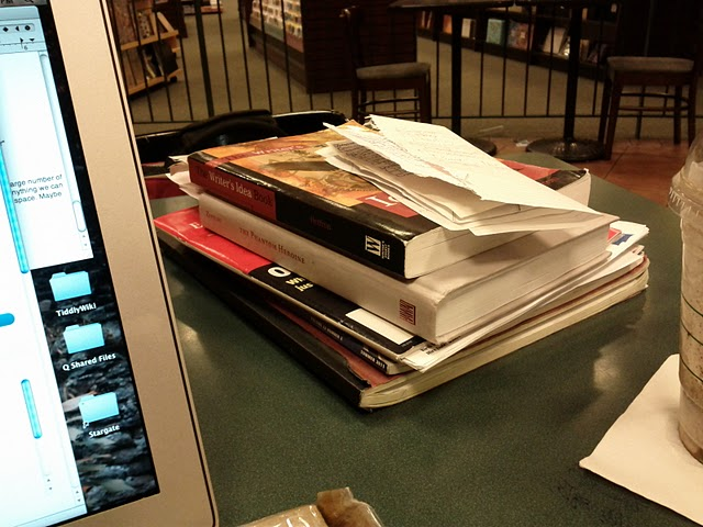 piles of notes between caffeine fuel and computational engine
