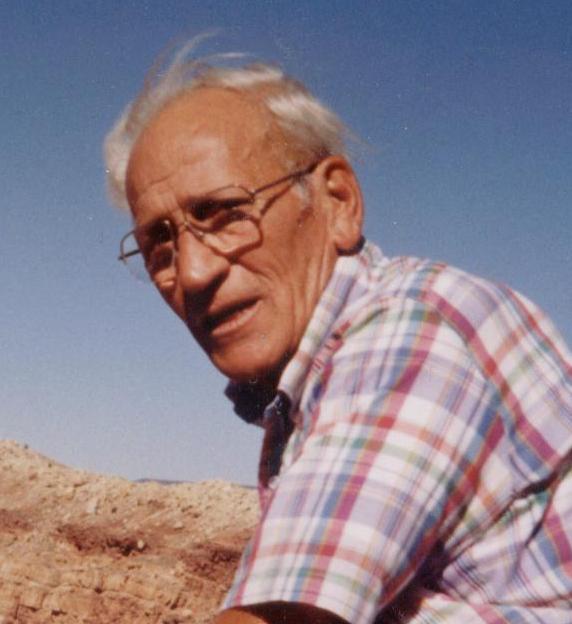 Closeup of Dad at Meteor Crater.