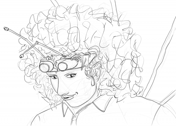 Rough sketch of Jeremiah and her antennae