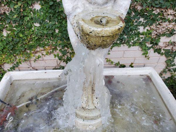 My frozen fountain ...