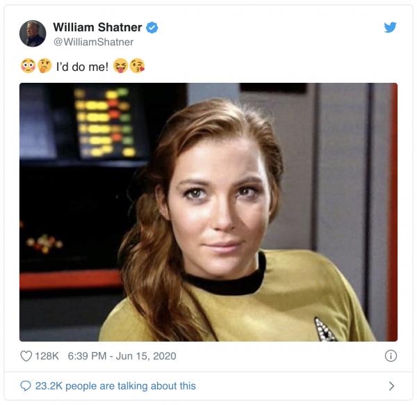 A female Captain Kirk?
