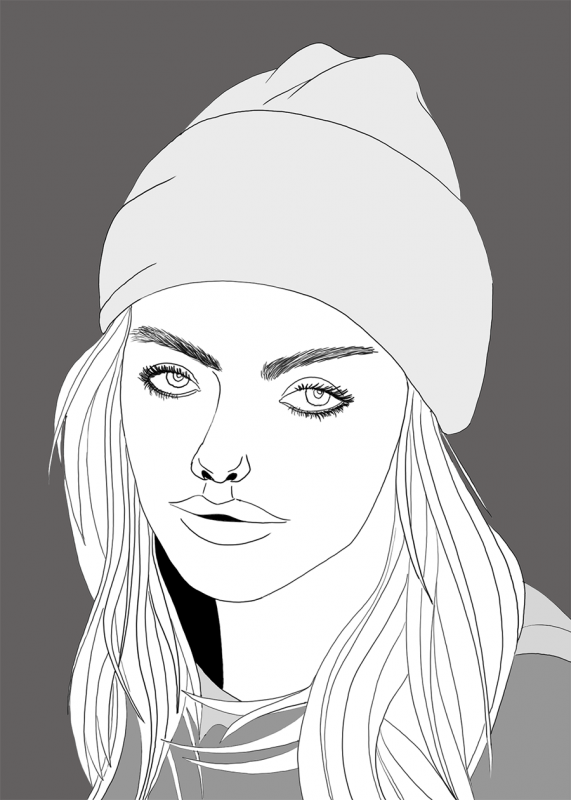Girl with Cap
