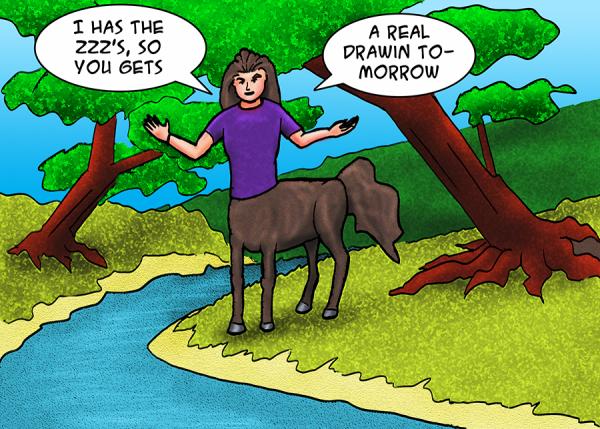 the centaur by a brook