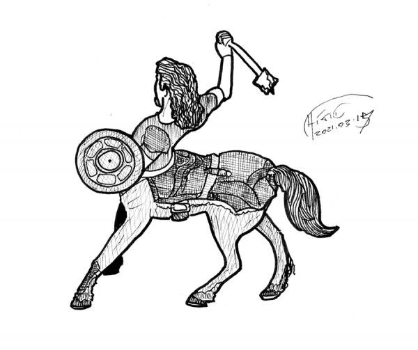 centaur drawing