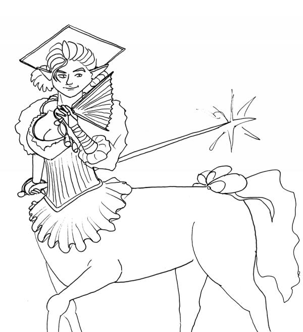 rapier centaur sketch