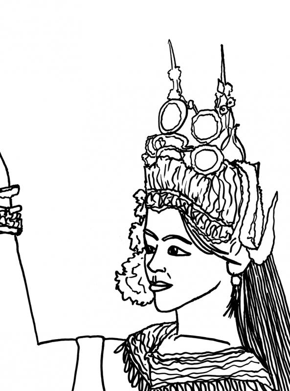 apsara sketch