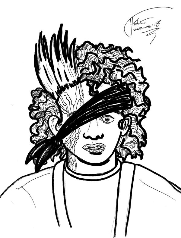 puck character sketch